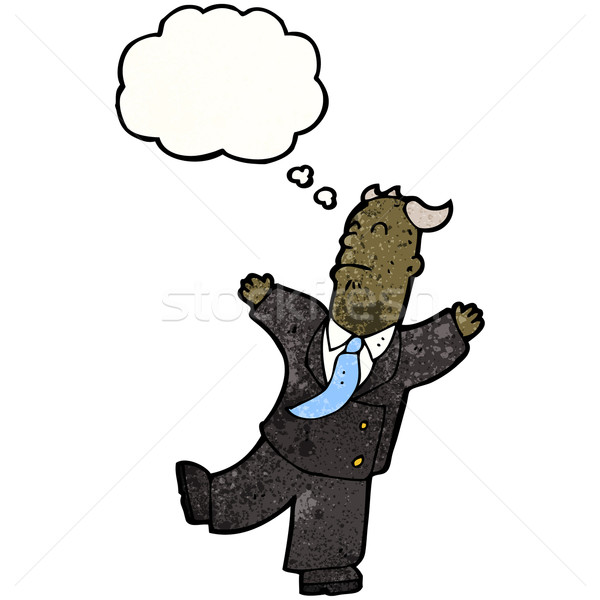 Edad banquero ataque del corazón negocios retro dibujo Foto stock © lineartestpilot