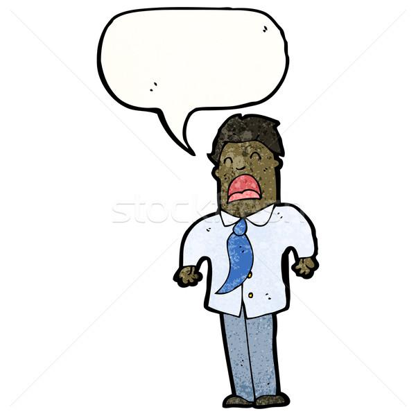 cartoon office man complaining Stock photo © lineartestpilot