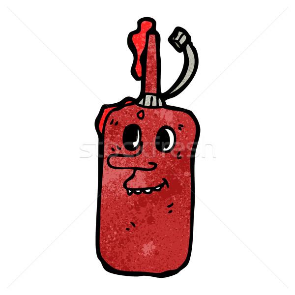 漫画 ケチャップ ボトル 芸術 レトロな 図面 ストックフォト © lineartestpilot