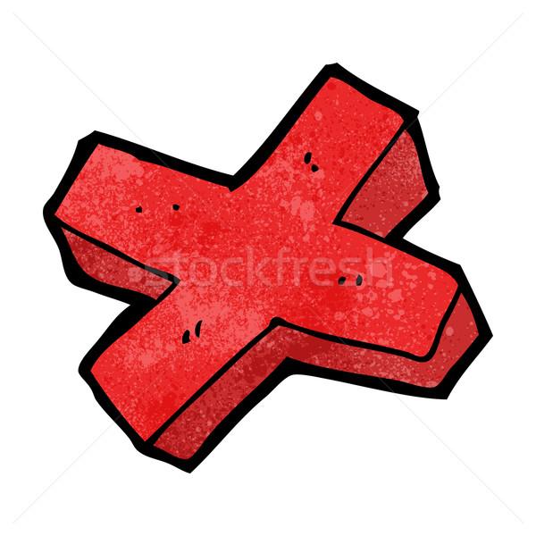 Cartoon negativos cruz símbolo diseno arte Foto stock © lineartestpilot