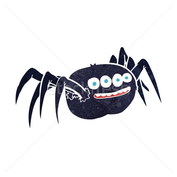 Karikatür örümcek dizayn sanat Retro Stok fotoğraf © lineartestpilot