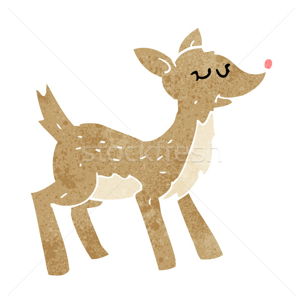 cute cartoon deer Stock photo © lineartestpilot
