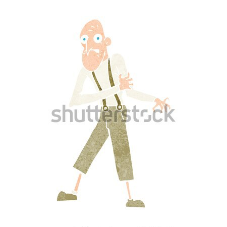 cartoon lonely old man Stock photo © lineartestpilot
