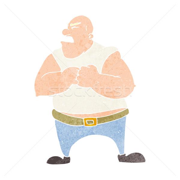 Cartoon насильственный человека стороны дизайна Crazy Сток-фото © lineartestpilot