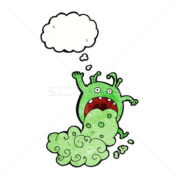 cartoon gross monster being sick with thought bubble Stock photo © lineartestpilot