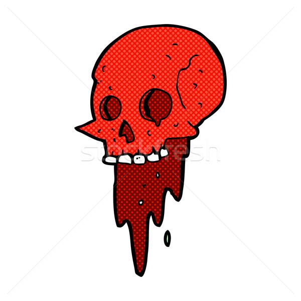 gross halloween skull comic cartoon Stock photo © lineartestpilot