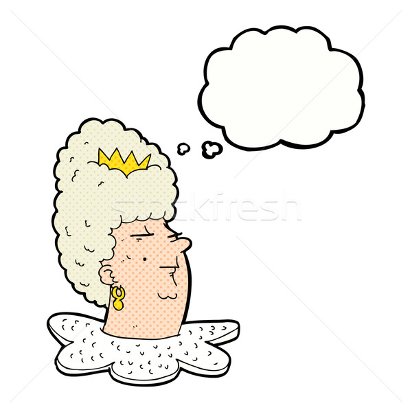 cartoon queen's head with thought bubble Stock photo © lineartestpilot