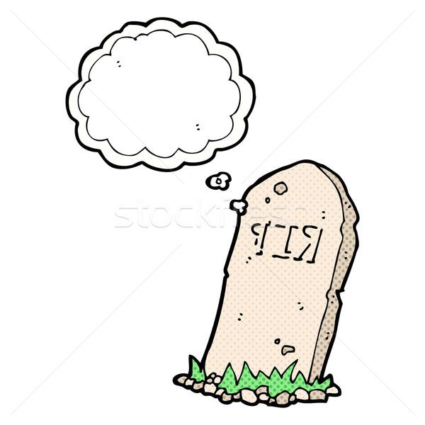 Cartoon grobu bubble myśl strony projektu Zdjęcia stock © lineartestpilot