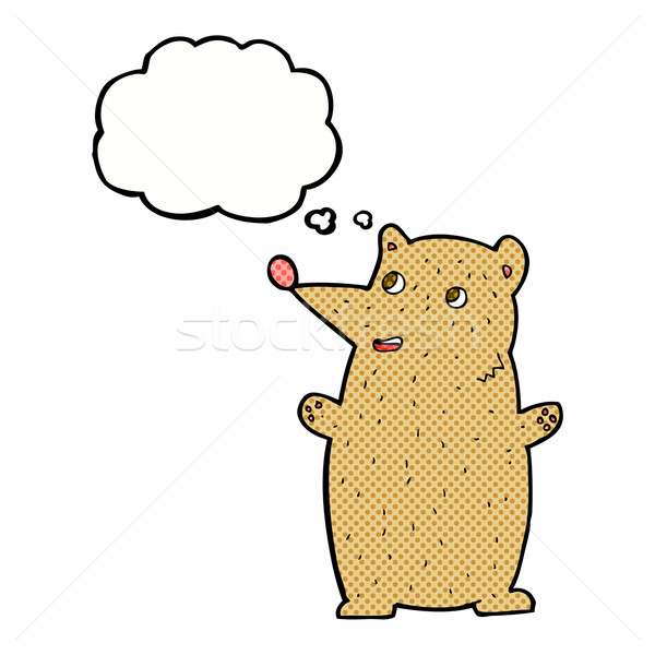 смешные Cartoon несут мысли пузырь стороны дизайна Сток-фото © lineartestpilot