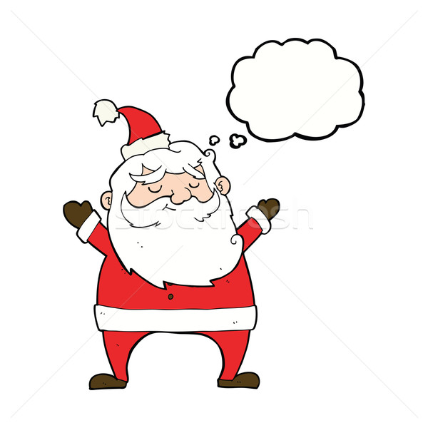 jolly santa cartoon with thought bubble Stock photo © lineartestpilot