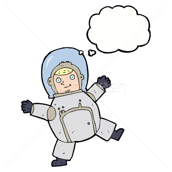 Karikatür astronot düşünce balonu el dizayn uzay Stok fotoğraf © lineartestpilot
