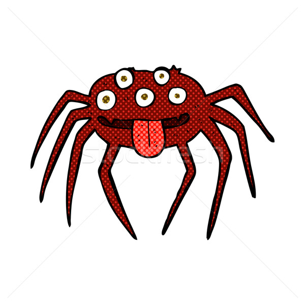 comic cartoon gross halloween spider Stock photo © lineartestpilot