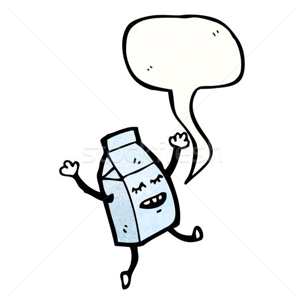 milk carton cartoon character Stock photo © lineartestpilot