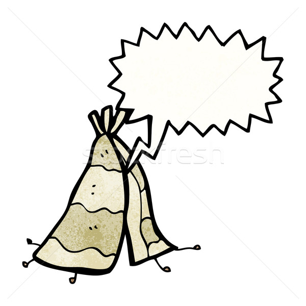 cartoon tepee tent Stock photo © lineartestpilot