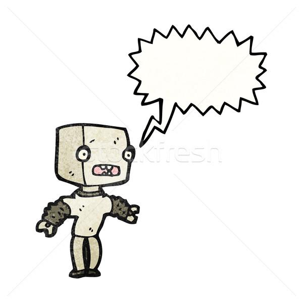 Stockfoto: Cartoon · weinig · robot · kunst · retro · tekening