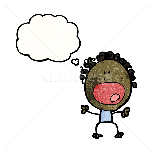 complaining doodle woman cartoon Stock photo © lineartestpilot