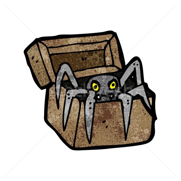 spooky monster in box cartoon Stock photo © lineartestpilot