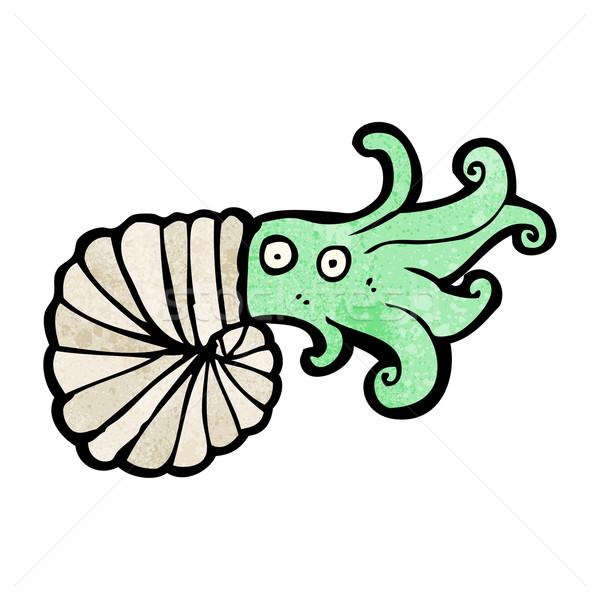 cartoon nautilus squid Stock photo © lineartestpilot