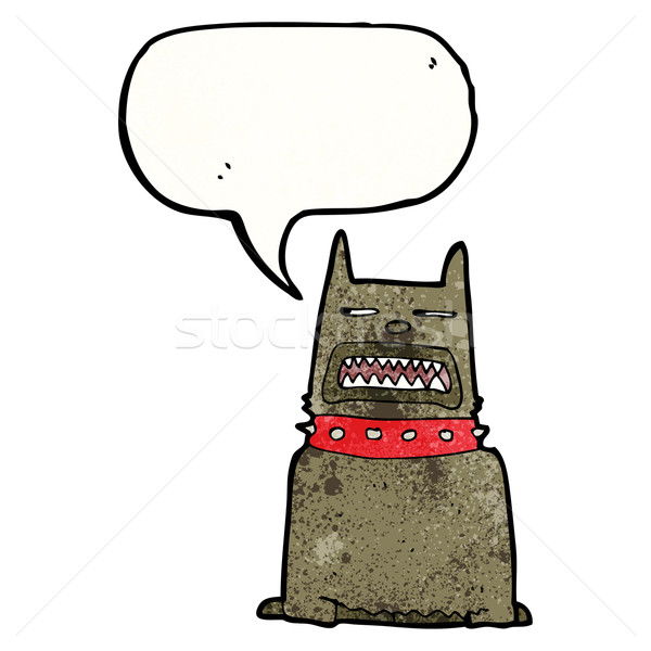 growling dog cartoon Stock photo © lineartestpilot