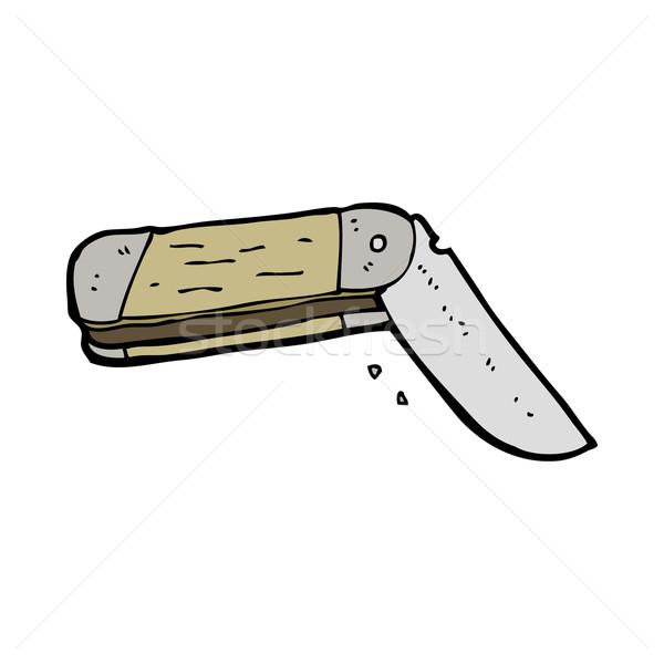 cartoon folding knife Stock photo © lineartestpilot