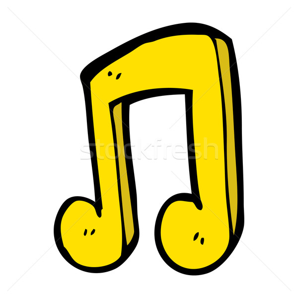 cartoon musical note Stock photo © lineartestpilot