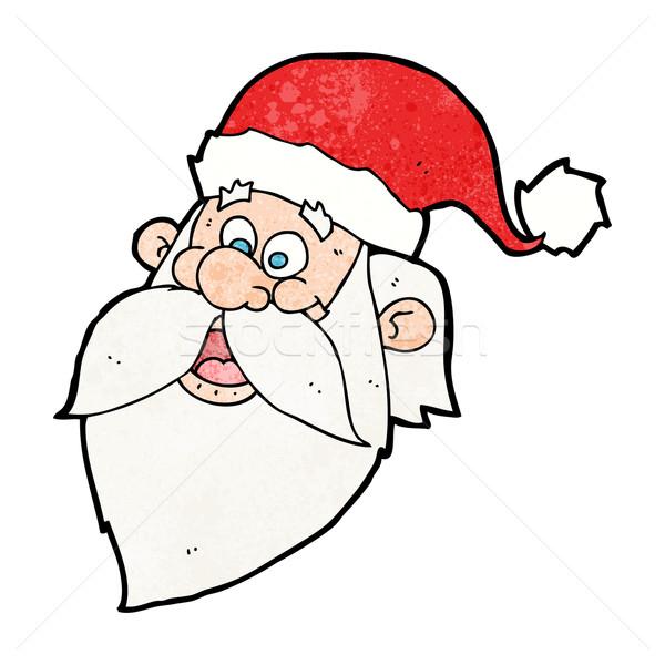 cartoon jolly santa claus face Stock photo © lineartestpilot