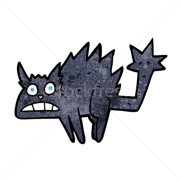 漫画 驚いた 黒猫 手 猫 デザイン ストックフォト © lineartestpilot