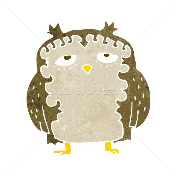 Desenho animado sábio velho coruja mão projeto Foto stock © lineartestpilot