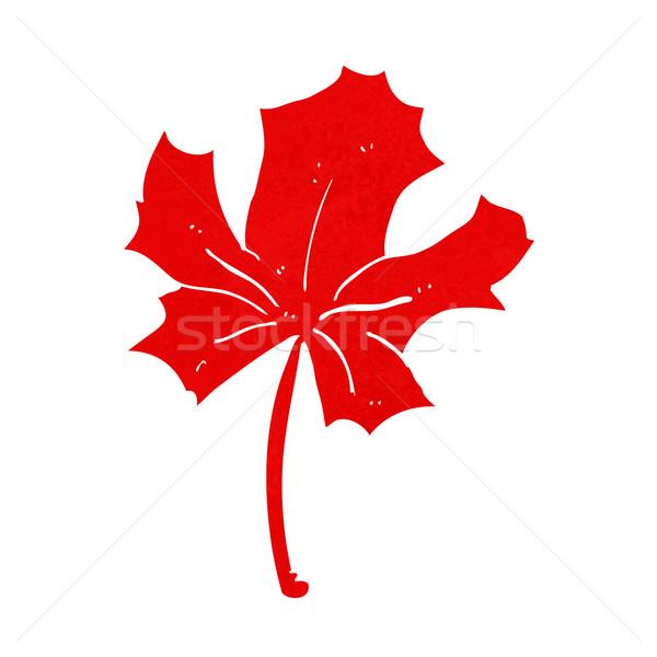 Cartoon rouge feuille d'érable main design signe Photo stock © lineartestpilot