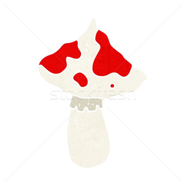 Desenho animado cogumelo venenoso mão projeto louco magia Foto stock © lineartestpilot