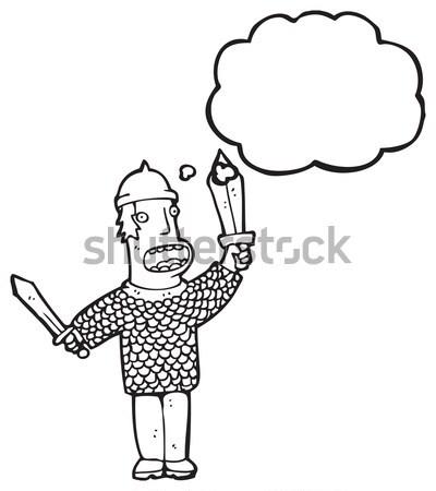 комического Cartoon испуганный человека ретро Сток-фото © lineartestpilot