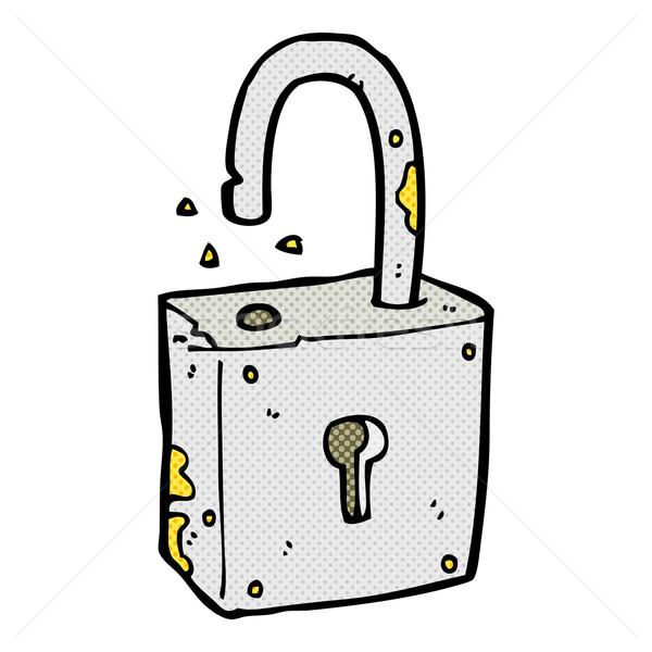 caroon rusty old padlock Stock photo © lineartestpilot