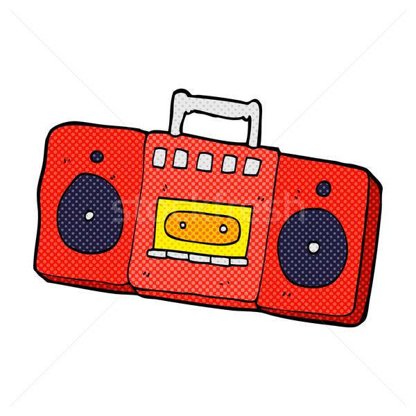 Fumetto cartoon radio cassette giocatore retro Foto d'archivio © lineartestpilot