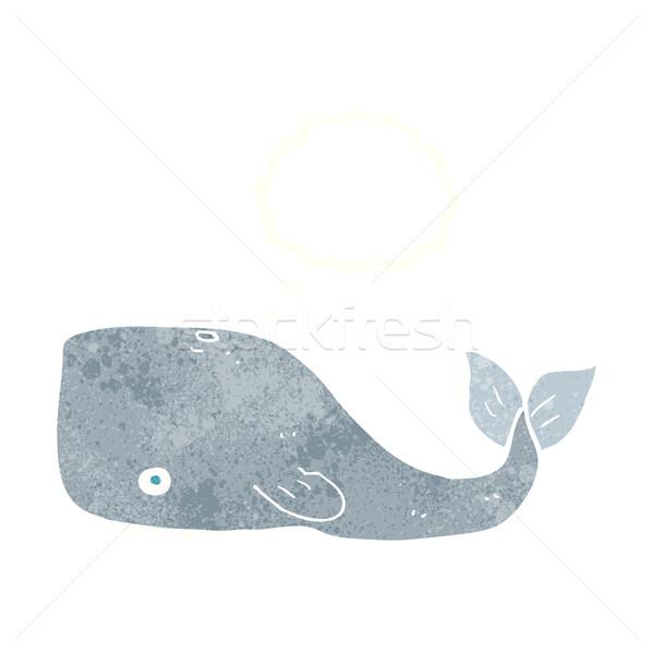 Rajz bálna gondolatbuborék kéz terv művészet Stock fotó © lineartestpilot