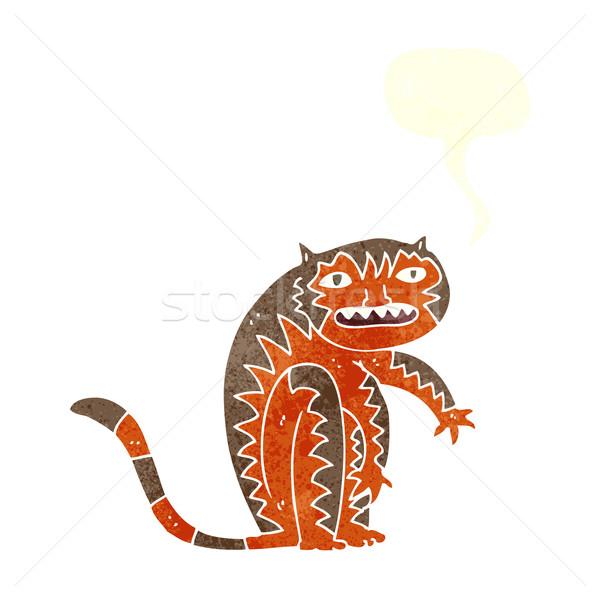 Cartoon Tygrys dymka strony projektu sztuki Zdjęcia stock © lineartestpilot