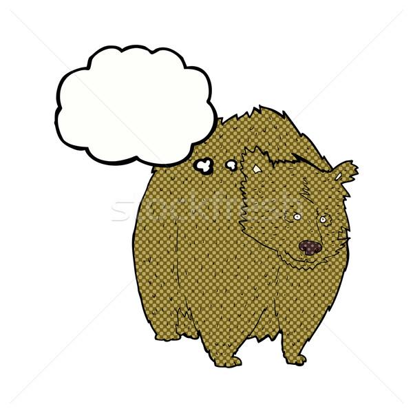 巨大な クマ 漫画 思考バブル 手 デザイン ストックフォト © lineartestpilot