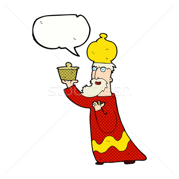 one of the three wise men with speech bubble Stock photo © lineartestpilot