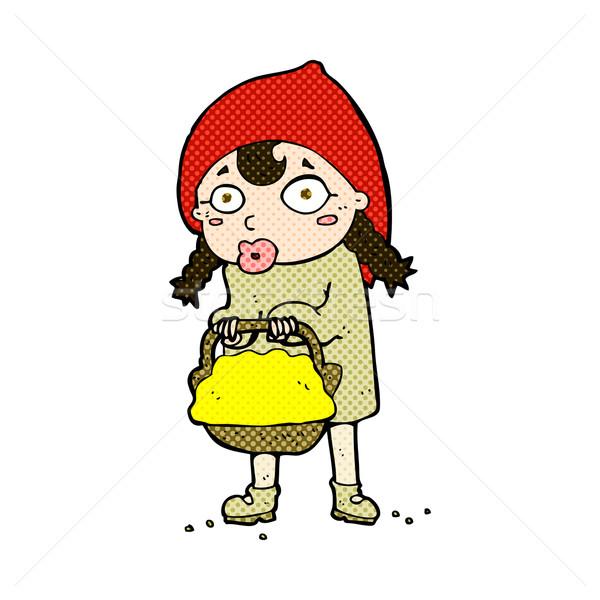 little red riding hood comic cartoon Stock photo © lineartestpilot