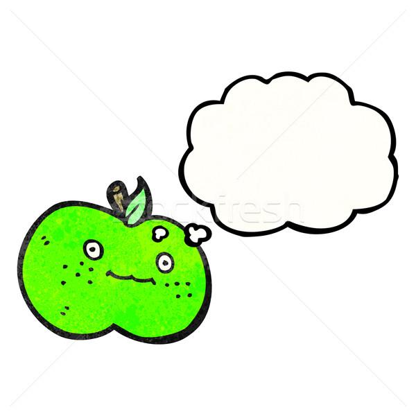 Bonitinho desenho animado maçã versão textura mão Foto stock © lineartestpilot