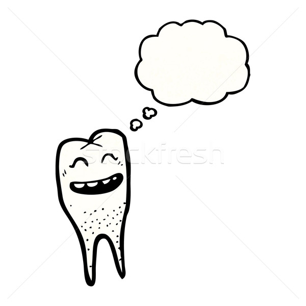 cartoon grinning tooth Stock photo © lineartestpilot