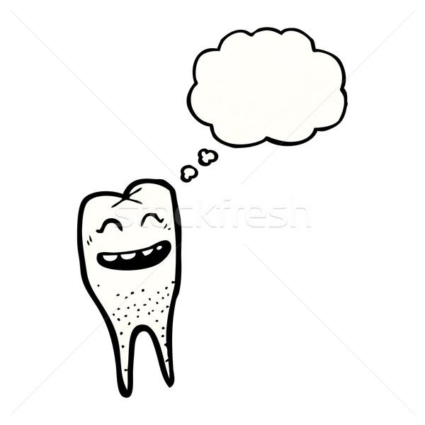 Rajz vigyorog fog beszél fogorvos retro Stock fotó © lineartestpilot