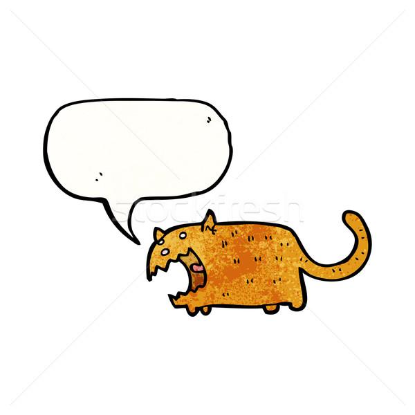 Cartoon сердиться кошки ретро рисунок Cute Сток-фото © lineartestpilot