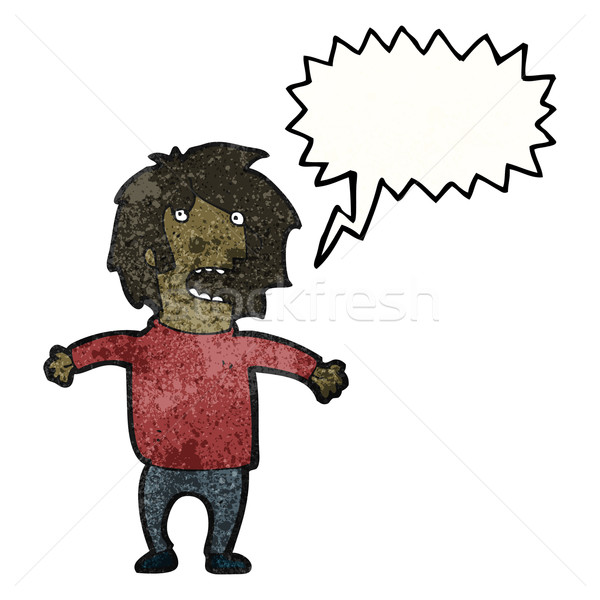cartoon man panicking Stock photo © lineartestpilot