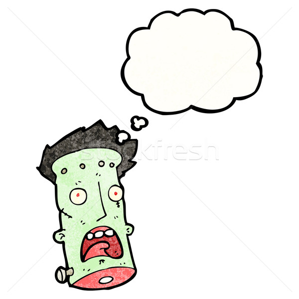 frankenstein's monster head cartoon Stock photo © lineartestpilot