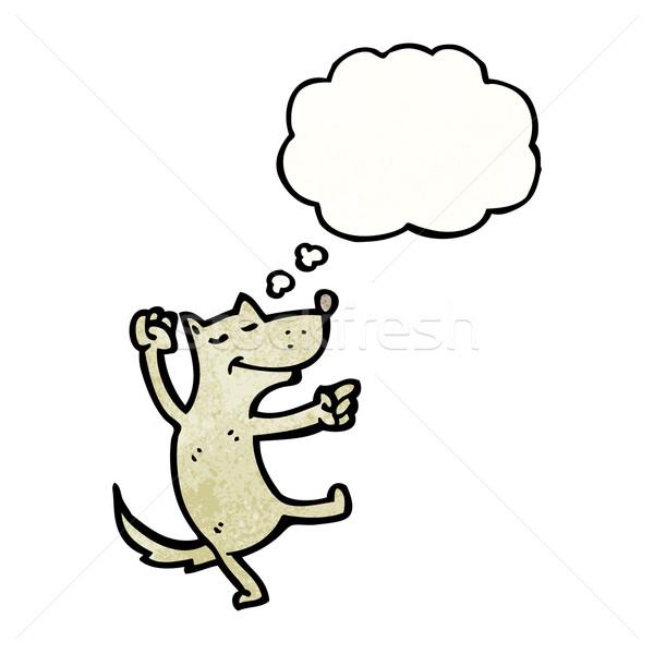 Сток-фото: Cartoon · танцы · собака · ретро · текстуры · изолированный
