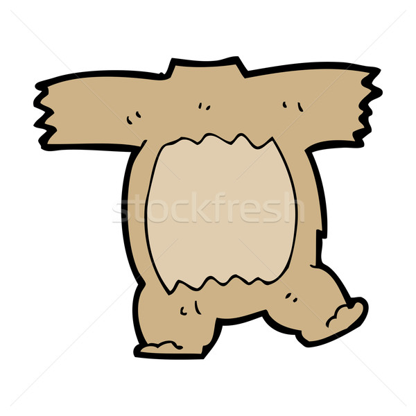 cartoon teddy bear body (mix and match cartoons) Stock photo © lineartestpilot