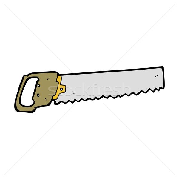 Cartoon zag hand ontwerp gek clip Stockfoto © lineartestpilot