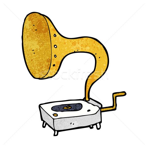 Cartoon gramófono mano diseno arte retro Foto stock © lineartestpilot