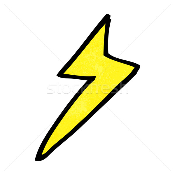 cartoon lightning bolt symbol Stock photo © lineartestpilot