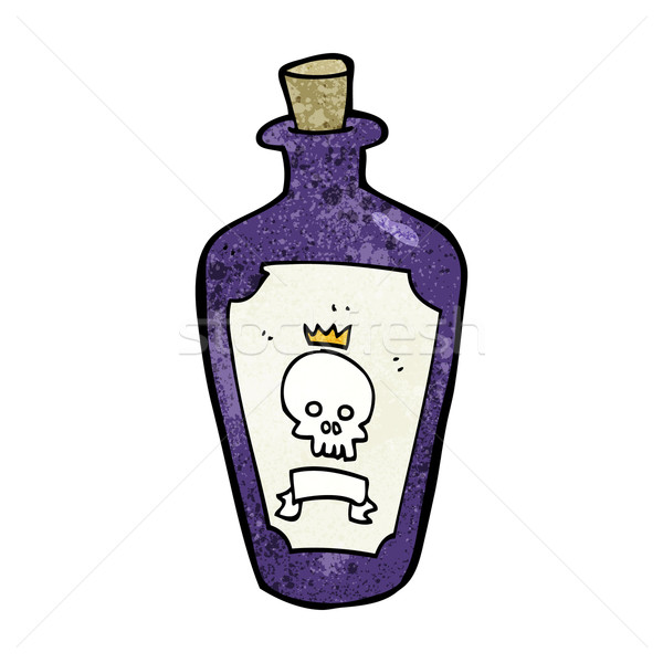 Desenho animado veneno projeto arte retro engraçado Foto stock © lineartestpilot
